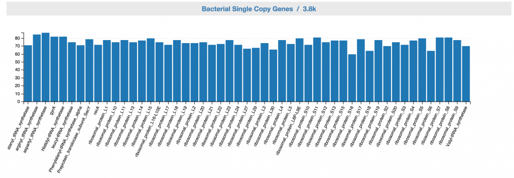 Feedback: Bacterial SCG inventory based on the controls.